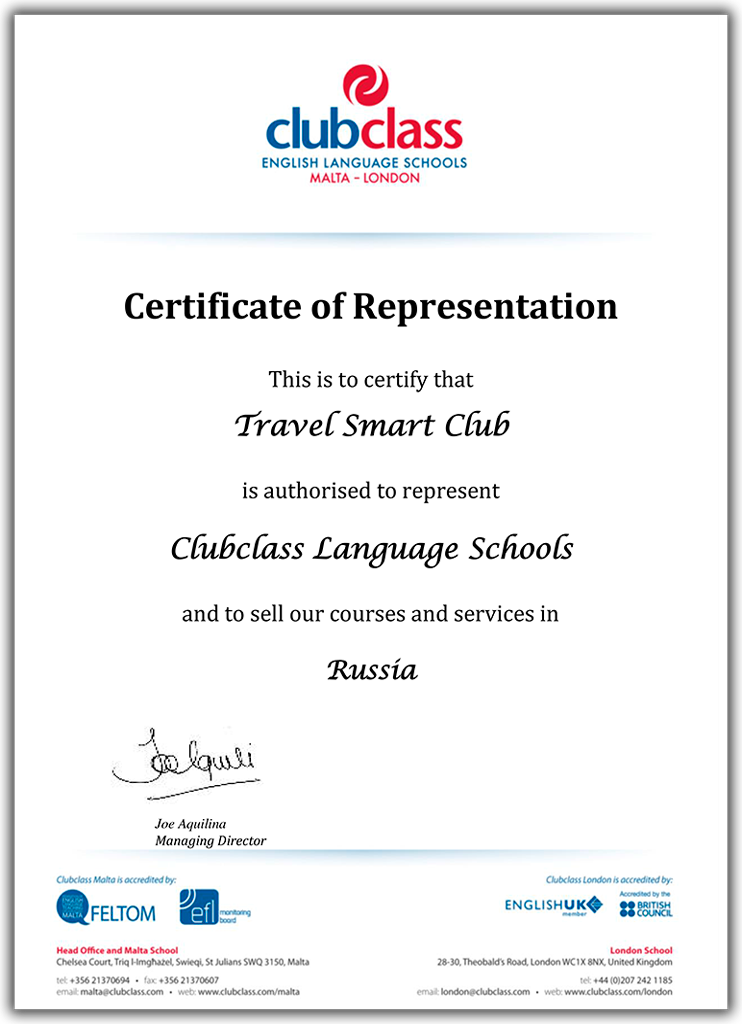ClubClass English Language Schools